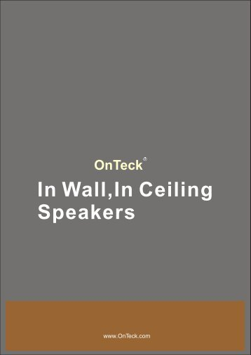 In wall,In ceiling,Outdoor speakers 2008+.cdr - OnTeck