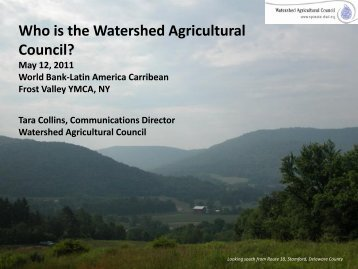 What is a Watershed? - Watershed Agricultural Council