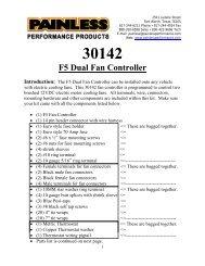 F5 Dual Fan Controller W/Metric Sensor - Painless Wiring