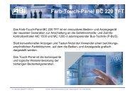 Farb-Touch-Panel BC 220 TFT - ABI Sicherheitssysteme GmbH