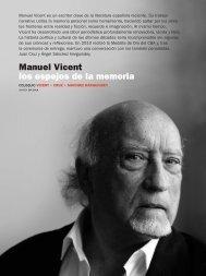 Manuel Vicent los espejos de la memoria - Círculo de Bellas Artes