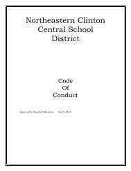 Northeastern Clinton - Home Page of the Cougars!