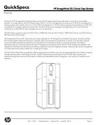 HP StorageWorks ESL E-Series Tape Libraries - mywebtek