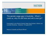Th d i A t li Wh tit The gender wage gap in Australia -What ... - NATSEM
