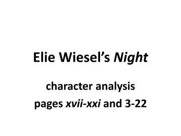 elie wiesel night full text elie wiesel s night