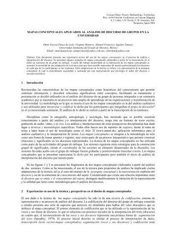 MAPAS CONCEPTUALES APLICADOS AL ANÁLISIS DE ... - CMC
