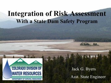 Dam Safety Program - Colorado Division of Water Resources