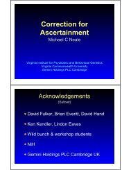 Correction for Ascertainment - Institute for Behavioral Genetics