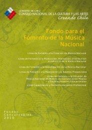Fondo para el Fomento de la Música Nacional - Consejo de la ...