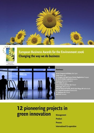 12pioneering projects in green innovation Management