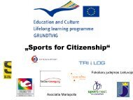 """Sports for Citizenship"" - Stark macher"