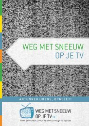 Weg met sneeuW op je tv - Cultuur, Jeugd, Sport en Media