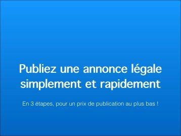 Publiez une annonce légale simplement et rapidement