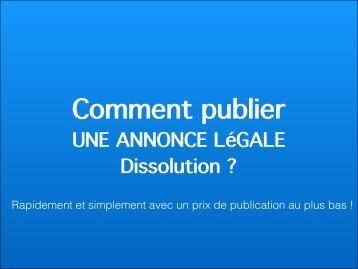 Annonce legale dissolution
