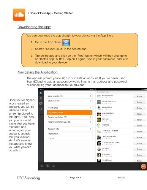 SoundCloud App - Getting Started pdf
