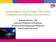 Autism Spectrum Disorder - Parents as Teachers