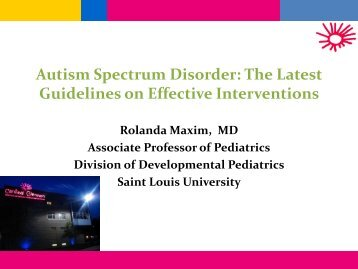 Autism Spectrum Disorder - Parents as Teachers
