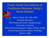 Public Health Surveillance of Foodborne Illnesses Using a Novel ...