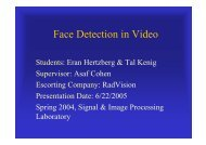 Face Detection in Video - Signal & Image Processing Lab