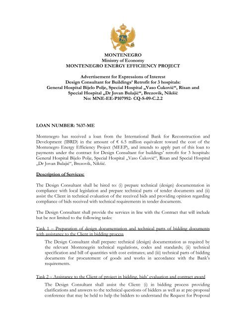 Call For Submitting A Letter Of Intent Energetska Efikasnost