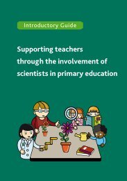 Supporting teachers through the involvement of scientists in primary ...