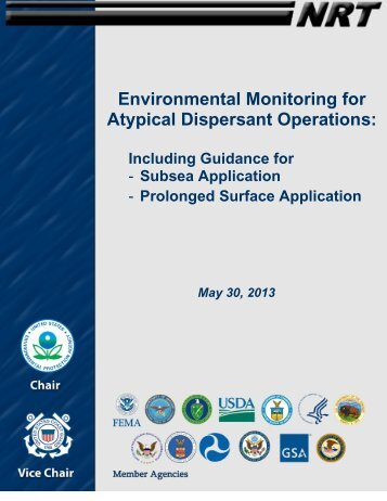 Environmental Monitoring for Atypical Dispersant Operations