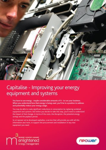 Capitalise - Improving your energy equipment and systems - Npower