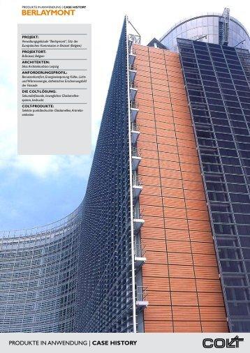 Berlaymont - bewegliches Glaslamellenfassade