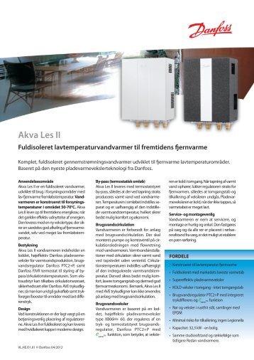 Akva Les II Lavtemperatur vandvarmer - Danfoss Redan A/S