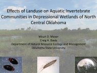 Effects of land use on aquatic invertebrate communities in ...