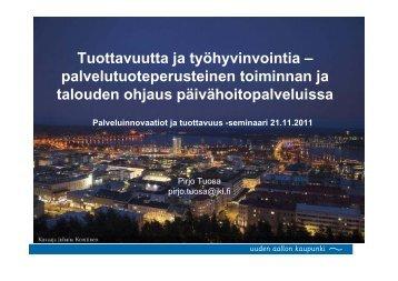 palvelutuoteperusteinen toiminnan ja talouden ohjaus ...