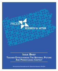 RFA_PACER_Issue_Brief_Teacher_Effectiveness_The_National_Picture_and_Pennsylvania_Context