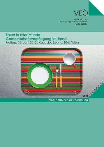 Programm - Verband der Ernährungswissenschafter Österreichs