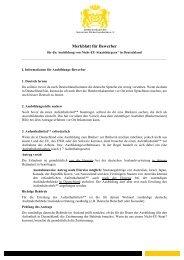 Merkblatt für Bewerber aus Nicht-EU Staaten - Back dir deine Zukunft