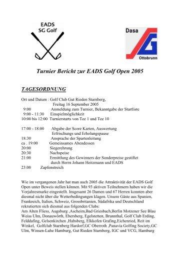 Turnier Bericht zur EADS Golf Open 2005 - Dasa-Sg