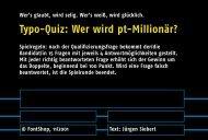 Spiel 1 - Fontblog