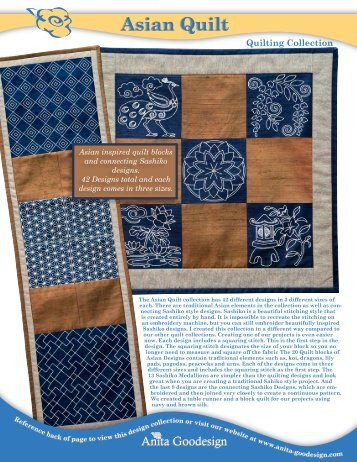 Asian Quilt - Anita Goodesign
