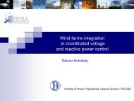 Wind farms integration in coordinated voltage and reactive power ...