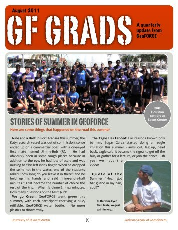 GF Grad Bulletin V2.1 August 2011 - Jackson School of Geosciences