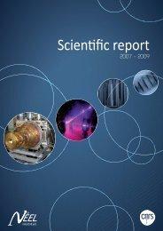 Scienıfic report - Institut NÉEL - CNRS