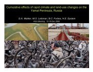 Cumulative effects of rapid climate and land-use changes - Alaska ...