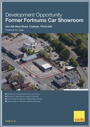 Development Opportunity Former Fortnums Car Showroom - Savills