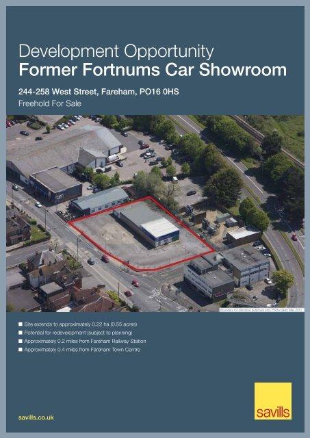 Development Opportunity Former Fortnums Car Showroom - Savills