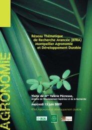 Montpellier Agronomie et Développement Durable - Agropolis