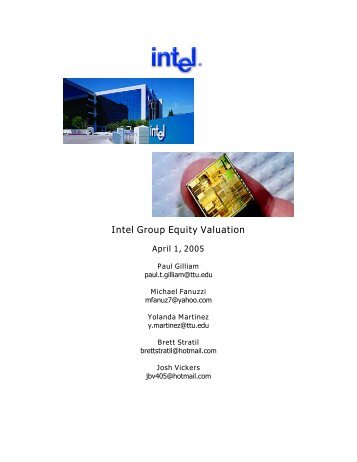 Intel Group Equity Valuation - Mark Moore