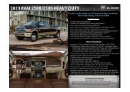 2013 RAM 2500/3500 HEAVY DUTY - Chrysler Canada