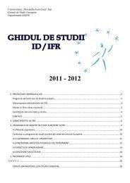 Ghid de studii - Centrul de Studii Europene - Universitatea ...
