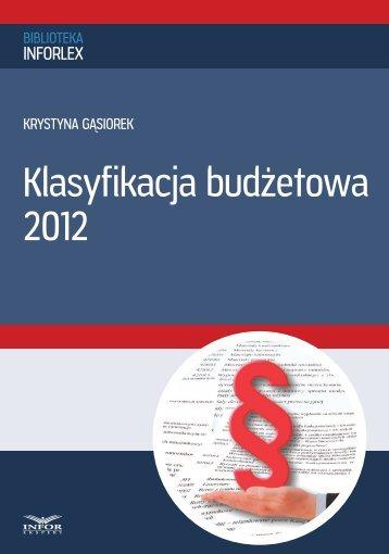 Klasyfikacja budżetowa 2012 - Infor