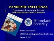 Pandemic Flu Critical Infrastructure - U.S. National Response Team ...