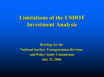Presentation - National Surface Transportation Policy and Revenue ...